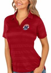 Antigua Washington Wizards Womens Red Compass Short Sleeve Polo Shirt