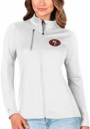 Antigua San Francisco 49ers Womens White Generation Light Weight Jacket