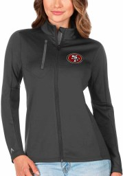 Antigua San Francisco 49ers Womens Grey Generation Light Weight Jacket