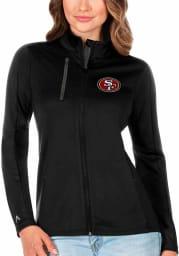 Antigua San Francisco 49ers Womens Black Generation Light Weight Jacket