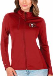 Antigua San Francisco 49ers Womens Red Generation Light Weight Jacket