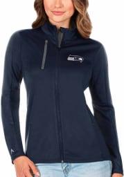 Antigua Seattle Seahawks Womens Navy Blue Generation Light Weight Jacket