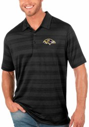 Antigua Baltimore Ravens Mens Black Compass Short Sleeve Polo