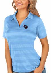 Antigua Tennessee Titans Womens Blue Compass Short Sleeve Polo Shirt