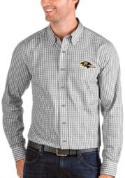 Antigua Baltimore Ravens Mens Grey Structure Long Sleeve Dress Shirt