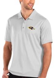 Antigua Baltimore Ravens Mens White Balance Short Sleeve Polo