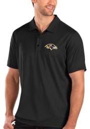Antigua Baltimore Ravens Mens Black Balance Short Sleeve Polo