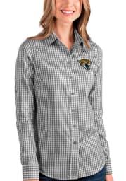 Antigua Jacksonville Jaguars Womens Structure Long Sleeve Black Dress Shirt