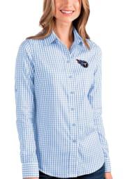 Antigua Tennessee Titans Womens Structure Long Sleeve Blue Dress Shirt