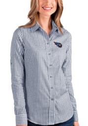 Antigua Tennessee Titans Womens Structure Long Sleeve Navy Blue Dress Shirt