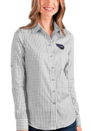 Antigua Tennessee Titans Womens Structure Long Sleeve Grey Dress Shirt