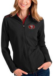 Antigua San Francisco 49ers Womens Black Glacier Light Weight Jacket