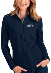Antigua Seattle Seahawks Womens Navy Blue Glacier Light Weight Jacket