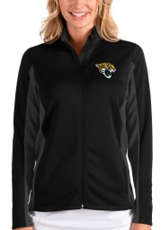 Antigua Jacksonville Jaguars Womens Black Passage Medium Weight Jacket