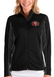 Antigua San Francisco 49ers Womens Black Passage Medium Weight Jacket