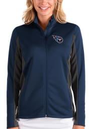 Antigua Tennessee Titans Womens Navy Blue Passage Medium Weight Jacket