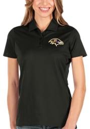 Antigua Baltimore Ravens Womens Black Balance Short Sleeve Polo Shirt