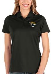 Antigua Jacksonville Jaguars Womens Black Balance Short Sleeve Polo Shirt