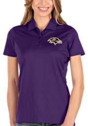 Antigua Baltimore Ravens Womens Purple Balance Short Sleeve Polo Shirt