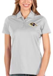 Antigua Baltimore Ravens Womens White Balance Short Sleeve Polo Shirt