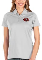 Antigua San Francisco 49ers Womens White Balance Short Sleeve Polo Shirt