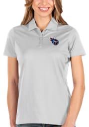 Antigua Tennessee Titans Womens White Balance Short Sleeve Polo Shirt
