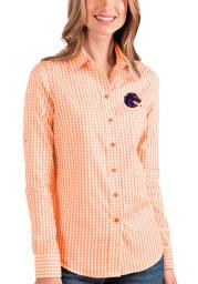 Antigua Boise State Broncos Womens Structure Long Sleeve Orange Dress Shirt