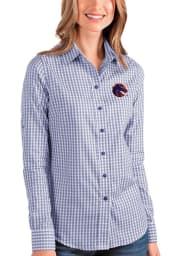 Antigua Boise State Broncos Womens Structure Long Sleeve Blue Dress Shirt