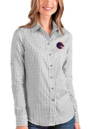 Antigua Boise State Broncos Womens Structure Long Sleeve Grey Dress Shirt