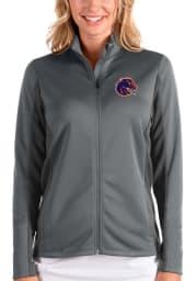 Antigua Boise State Broncos Womens Grey Passage Medium Weight Jacket