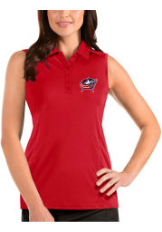 Antigua Columbus Blue Jackets Womens Red Sleeveless Tribute Tank Top