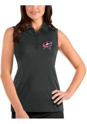 Antigua Columbus Blue Jackets Womens Grey Sleeveless Tribute Tank Top