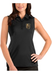 Antigua Vegas Golden Knights Womens Black Sleeveless Tribute Tank Top