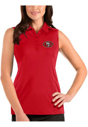 Antigua San Francisco 49ers Womens Red Sleeveless Tribute Tank Top