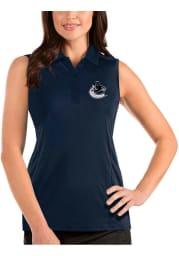 Antigua Vancouver Canucks Womens Navy Blue Sleeveless Tribute Tank Top