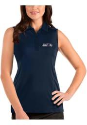 Antigua Seattle Seahawks Womens Navy Blue Sleeveless Tribute Tank Top