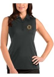 Antigua Boston Bruins Womens Grey Sleeveless Tribute Tank Top