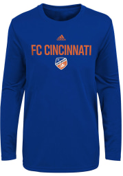 FC Cincinnati Boys Blue Locker Stacked Long Sleeve T-Shirt