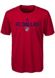 FC Dallas Boys Red Locker Stacked Short Sleeve T-Shirt