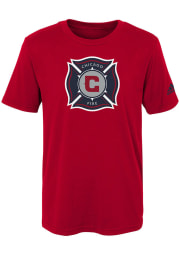 Chicago Fire Boys Red Squad Primary Short Sleeve T-Shirt