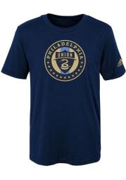 Philadelphia Union Boys Navy Blue Squad Primary Short Sleeve T-Shirt