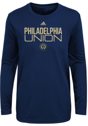 Philadelphia Union Toddler Navy Blue Locker Stacked Long Sleeve T-Shirt