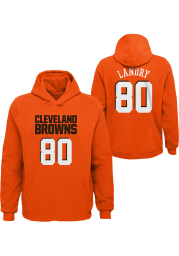 Jarvis Landry Cleveland Browns Youth Name and Number Long Sleeve Player Hoodie Orange