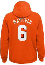 Baker Mayfield Outer Stuff Cleveland Browns Youth Name and Number Long Sleeve Player Hoodie Orange