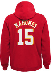 Patrick Mahomes Kansas City Chiefs Youth Name and Number Long Sleeve Hoodie Red
