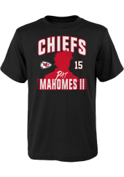 Patrick Mahomes Kansas City Chiefs Youth Black Profile Name and Number Player Tee