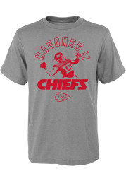 Patrick Mahomes Kansas City Chiefs Youth Grey Strong Arm Name and Number Player Tee