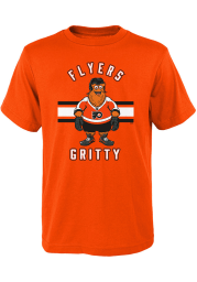 Gritty Outer Stuff Philadelphia Flyers Youth Orange Gritty Life Short Sleeve T-Shirt