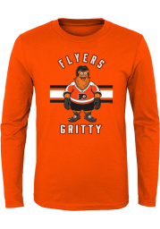 Gritty Outer Stuff Philadelphia Flyers Youth Orange Gritty Life Long Sleeve T-Shirt