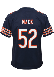 Khalil Mack Chicago Bears Youth Navy Blue Nike Game Team Football Jersey
